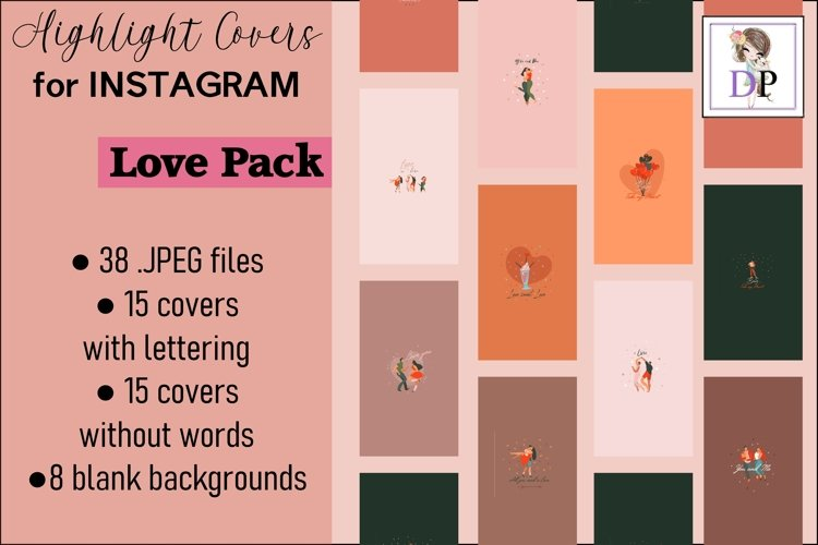 Instagram Story Covers Love Pack