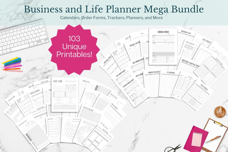Planner, Business and Life Mega Bundle