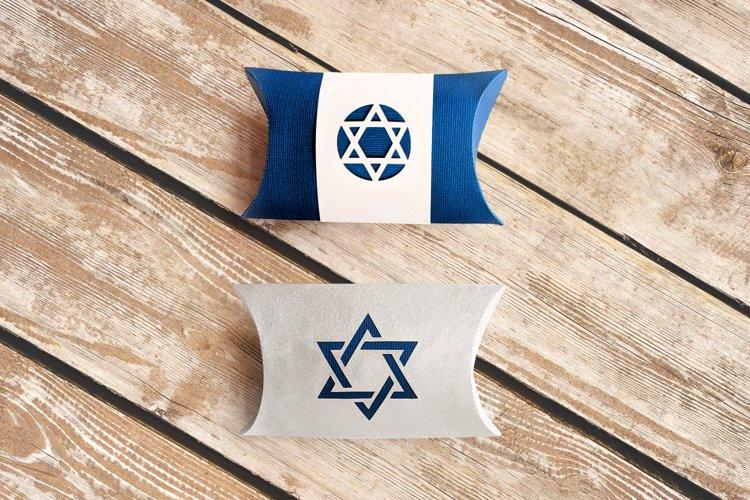 Star of David Pillow Box SVG Design example image 1