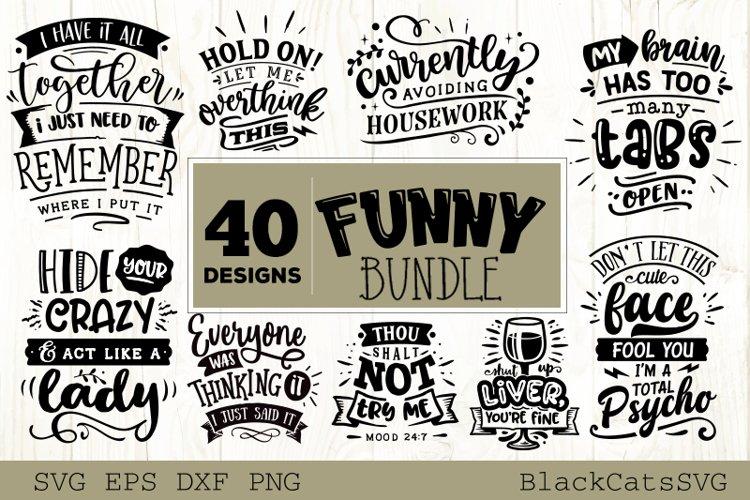 Funny SVG bundle 40 designs example image 1