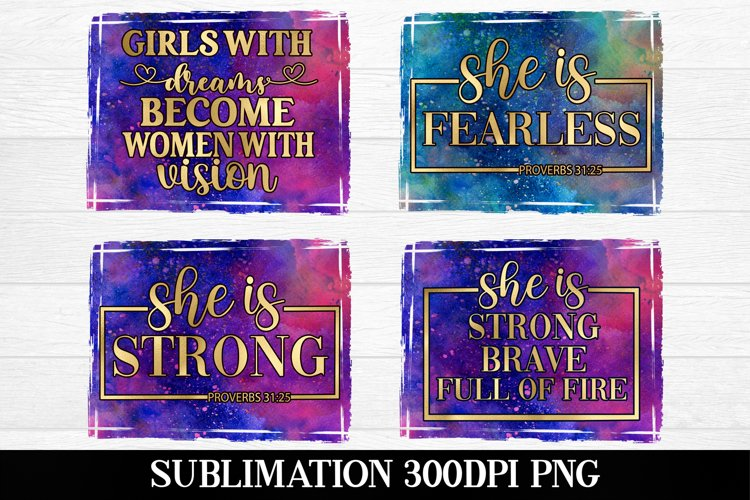 Woman Sublimation Bundle|Gold Galaxy sublimation bundle example image 1