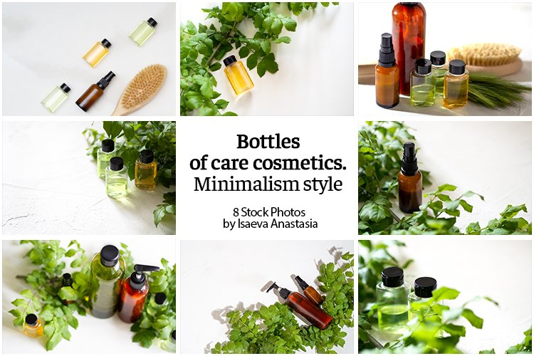 Bottles of care cosmetics example image 1
