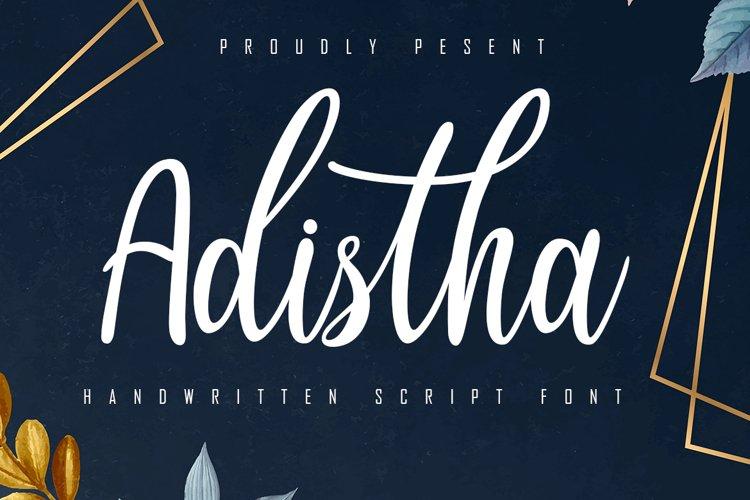 Adistha Handwritten Script example image 1