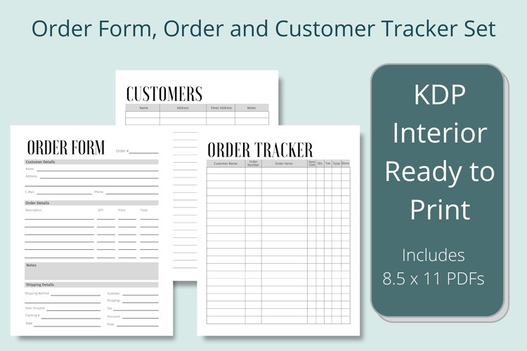 Business Order Form, Customer and Order Trackers example image 1