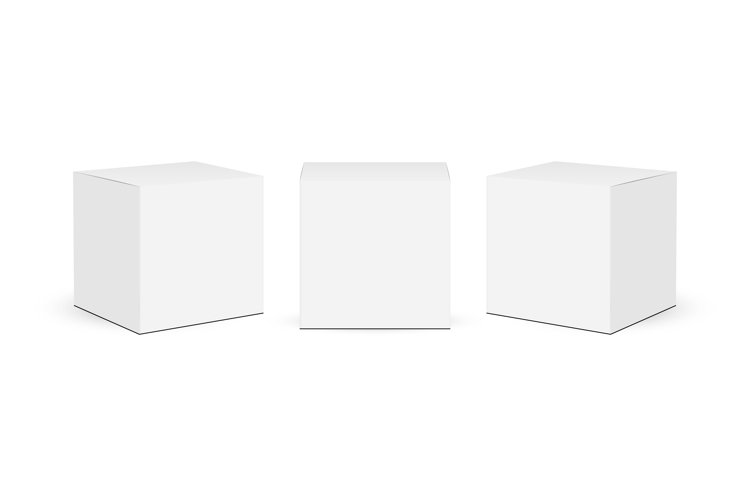 Three square paper boxes mockups example image 1