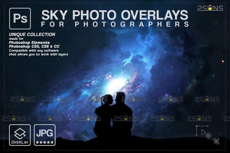 Night Sky Overlays, Pastel sky, sky overlay textures example image 1