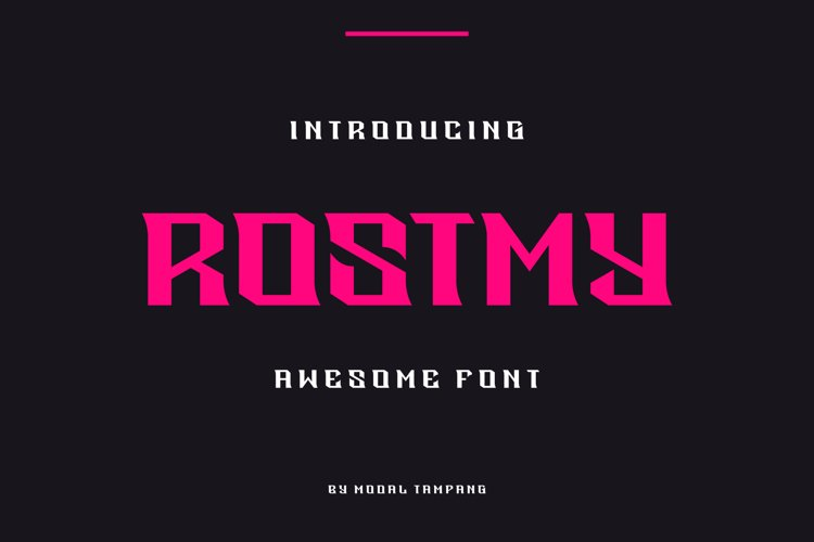 Rostmy Font example image 1