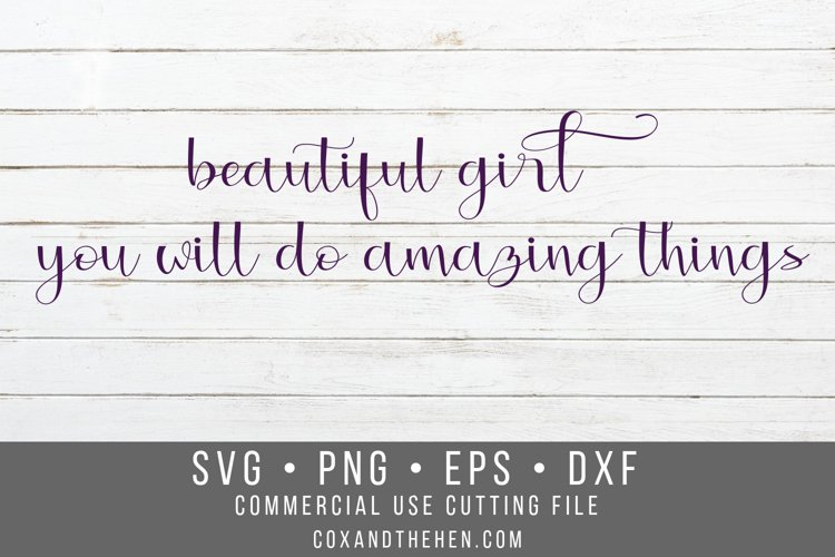 Beautiful Girl Wood Sign Stencil SVG example image 1
