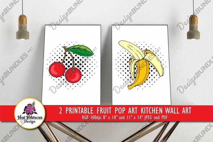 Fruit Pop Art Decor   Kitchen Popart Printable Wall Art