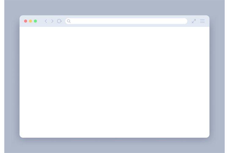 Browser window. Blank web interface mock screen internet web example image 1