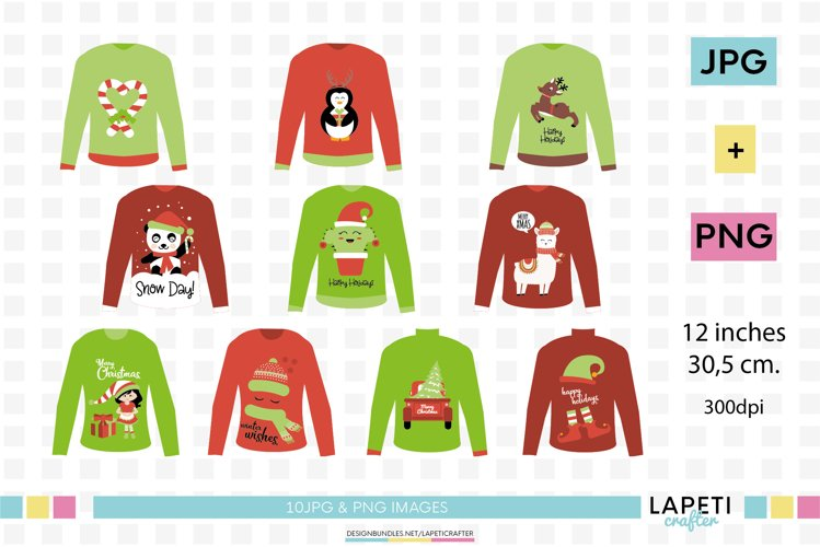 Ugly Christmas Sweaters clipart, Christmas jumpers png example image 1