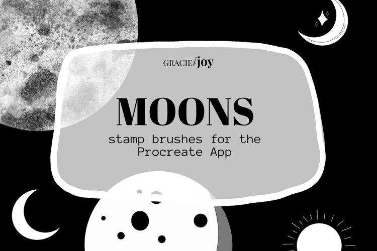 Moons Procreate Stamp Brush example image 1