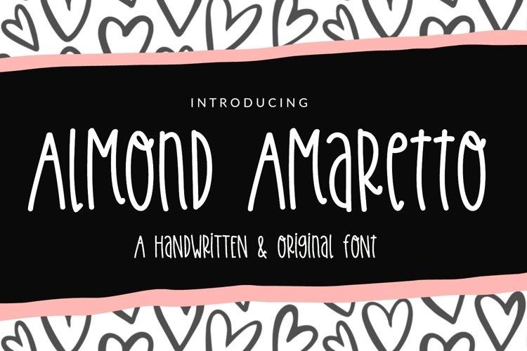 Almond Amaretto- Handwritten Font example image 1