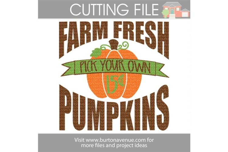 Farm Fresh Pumpkin Patch Sign SVG example image 1