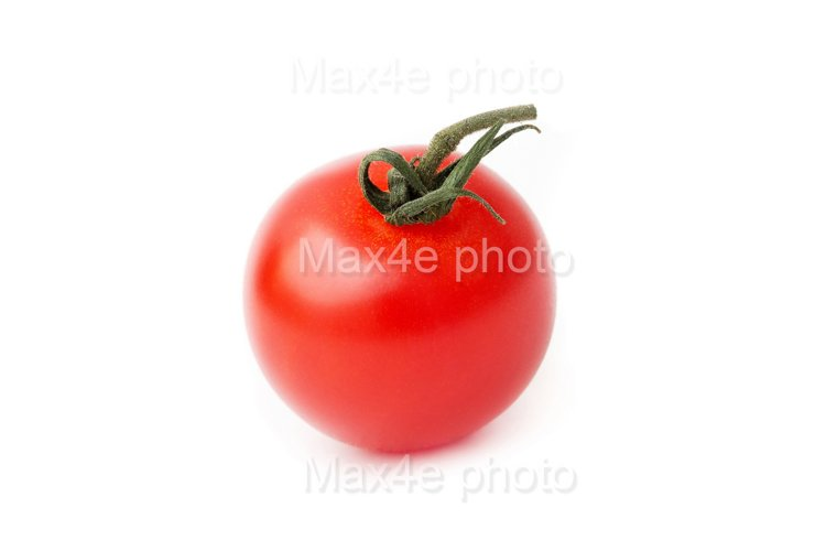 Tomato closeup isolated on white background