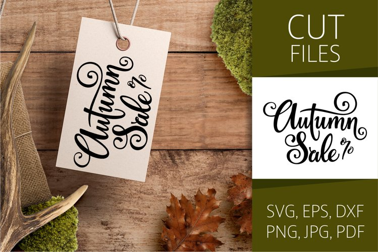 Autumn Sale - Fall Lettering   SVG Cut file   Vector EPS example image 1