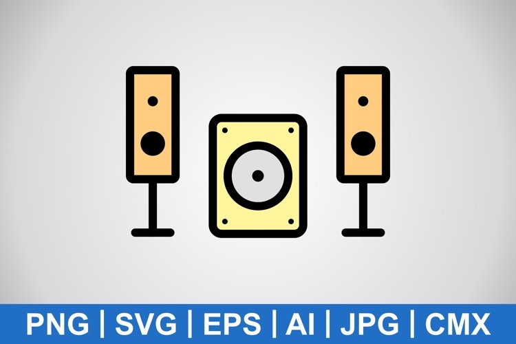 Vector Music System Icon example image 1