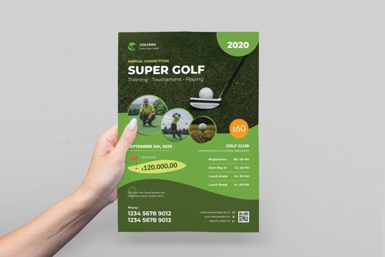 Golf Tournament Flyer Design example image 1