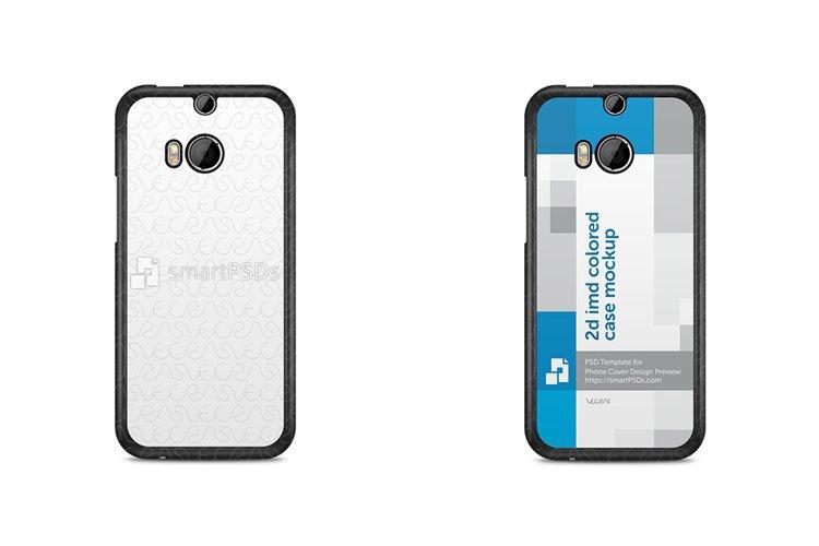 HTC One M8 Mini 2d IMD Colored Mobile Case Design Mockup 2014 example image 1