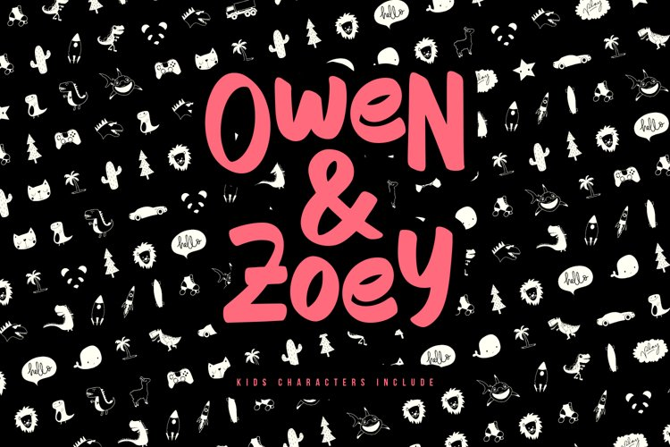 Owen Zoey Kids Characters Font Duo example image 1