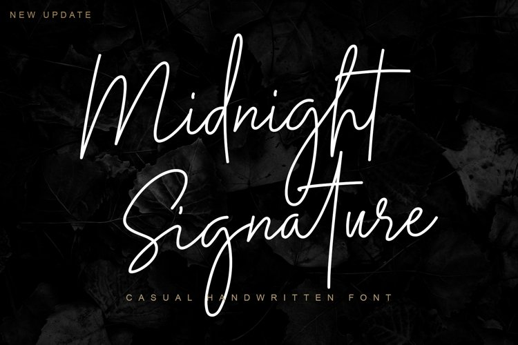 Midnight Signature   Casual Handwritten Font example image 1