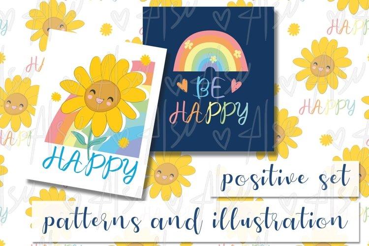 Happy Sunflower and rainbow