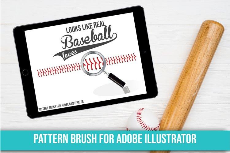 Baseball Brush, Adobe Illustrator, Baseball Stitch example image 1