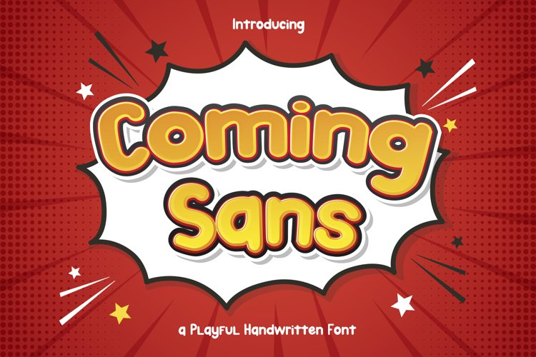 Coming Sans - Playful Handwritten Font example image 1