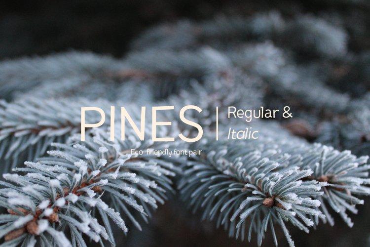 Pines Regular & Pines Italic example image 1