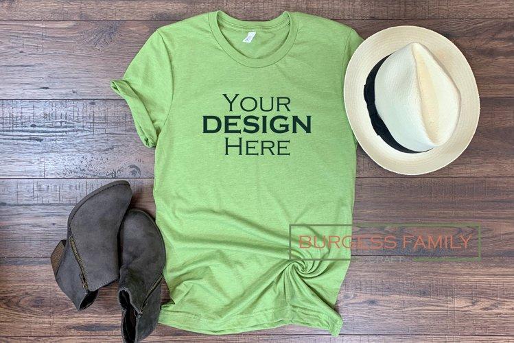 Mockup | Light Green Bella Canvas Womens |Craft mock up example image 1