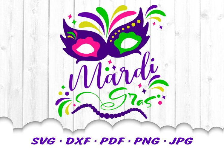 Mardi Gras Mask Beads SVG DXF Cut Files