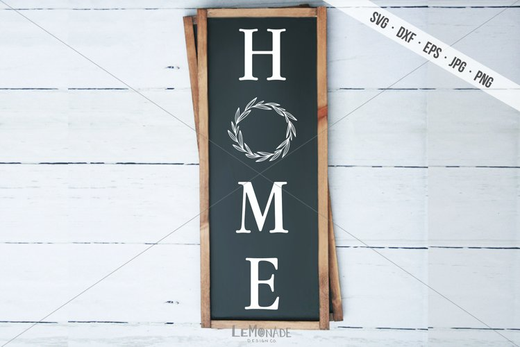 Vertical Home Sign SVG, Home Cutting File
