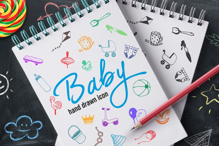 Hand Drawn Icons -Baby- example image 1