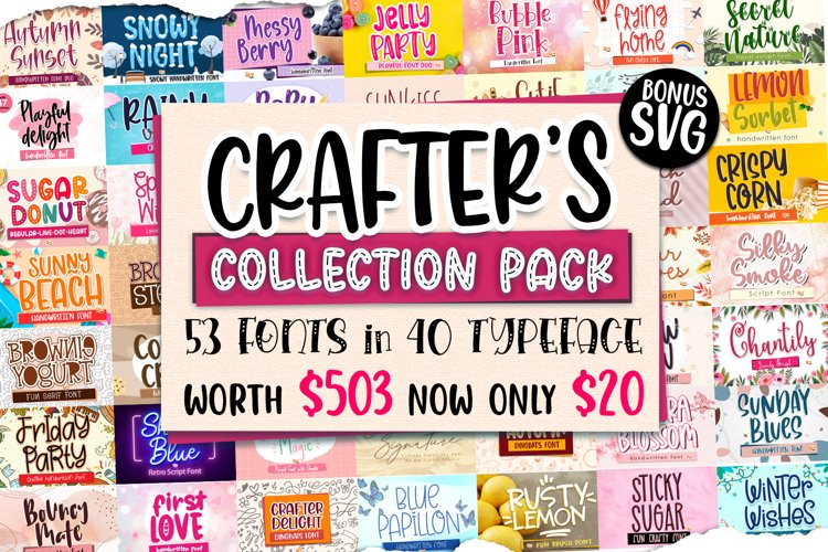 Best Seller - The Crafters Collection Pack Font Bundle !