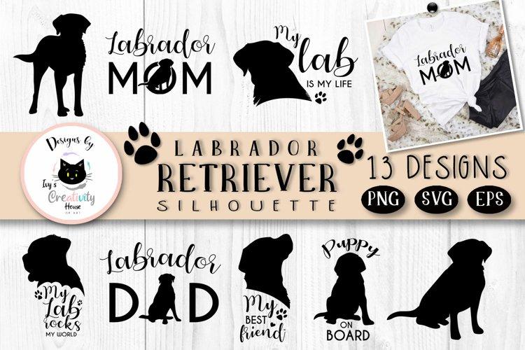 Black Labrador Retriever Dog Silhouette | Dog Mom SVG Files example image 1