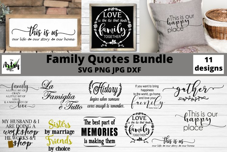 Family quotes svg bundle, Family sayings, Farmhouse signs