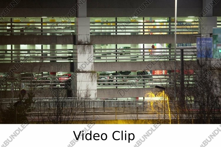 Video: Timelapse of traffic near parking deck at night example image 1