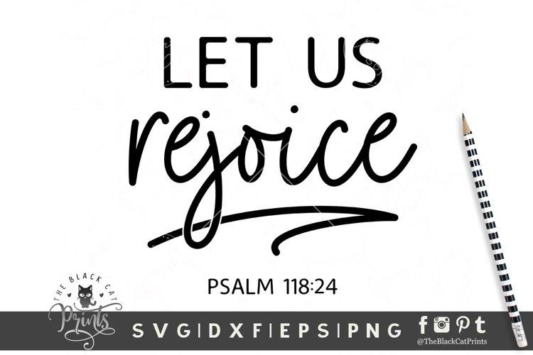 Let Us Rejoice SVG | Christian SVG | Bible Verse SVG example image 1