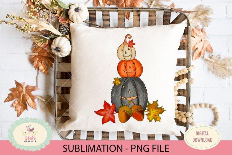 jack o lantern pumpkin sublimation PNG file, Fall png