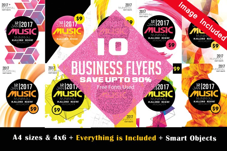 10 Music Party Flyers Bundle example image 1