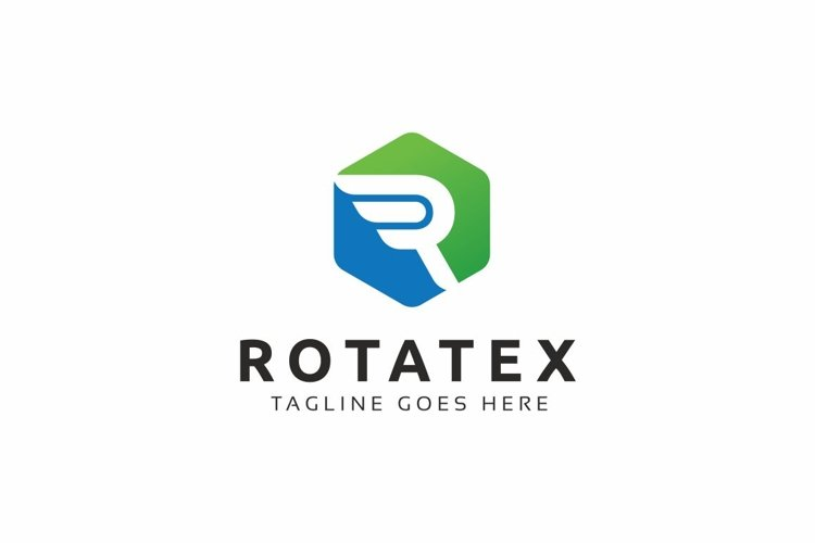 Rotatex / R Letter - Logo Template example image 1