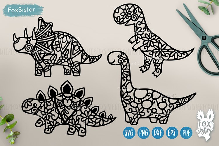 Dinosaurs Svg, Cute Dinosaurs cut file Svg Png Pdf Eps Dxf