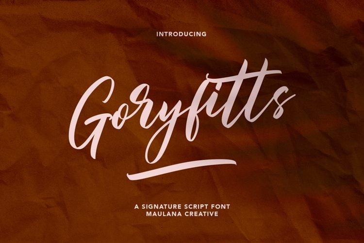 Goryfitts Signature Script Font example image 1