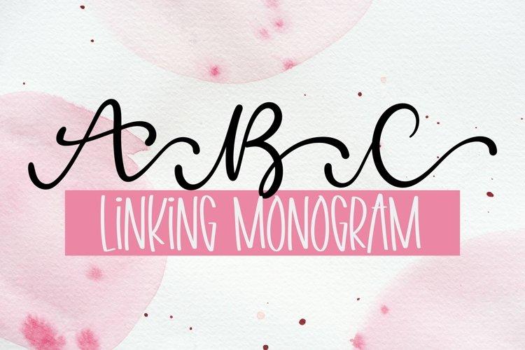 Web Font Linking Monogram Font - Linking Letters example image 1
