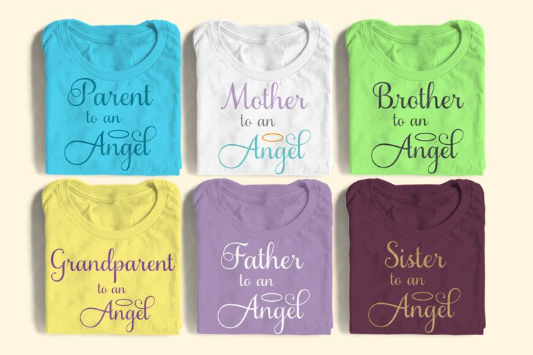 Family to an Angel SVG Design Set example image 1