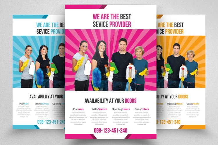 Cleaning House Service Flyer Template example image 1