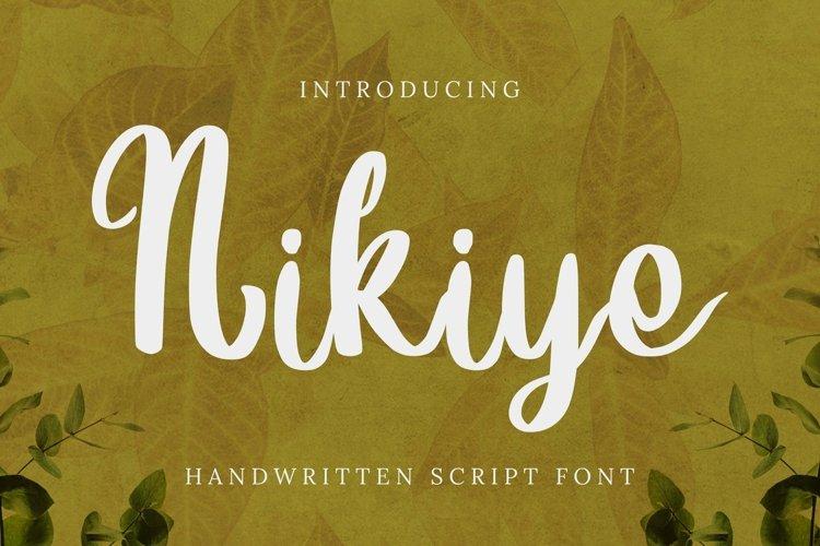 Web Font Nikiye Font example image 1