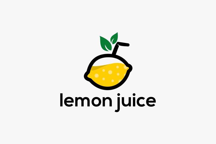 Lemon juice logo design premium example image 1