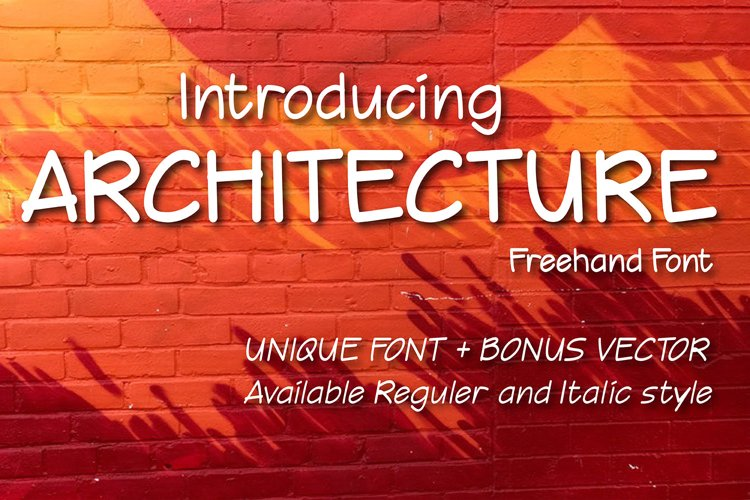 Architecture Freehand font