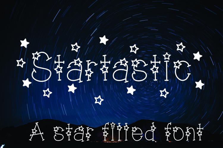 Startastic Hand Lettered Star Font